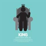 Konungen With His Throne Arkivfoto
