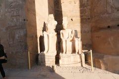 Konungen och drottningen på templet av luxor - Egypten Arkivfoton