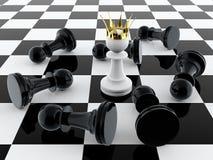 konungen pantsätter Arkivfoto