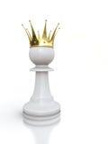 konungen pantsätter white Arkivfoto