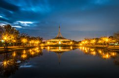 Konungen Rama IX parkerar, eller Suanluang RAMA IX i naturen parkerar Bangkok, Thailand arkivbilder