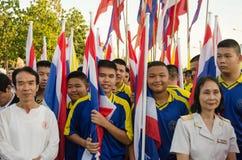 Konungfödelsedagen ståtar, Thailand Fotografering för Bildbyråer