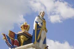 KonungGeorge III staty, Weymouth Royaltyfria Foton