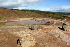 Konungshver - royal spring in the Geysir field, Iceland Stock Images