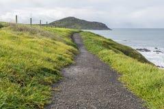 Konungstrandbana till bluffen, Victor Harbor, södra Australien P Royaltyfri Bild