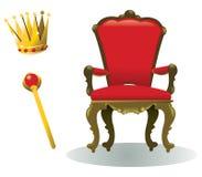 Konungutrustning Royaltyfria Bilder