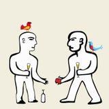 konversation royaltyfri illustrationer