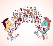Konversation stock illustrationer
