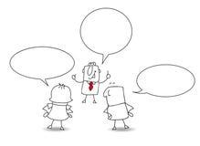 konversation vektor illustrationer