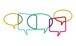 Konversation för bubblapratstundask i den sociala nätverksmiljön Royaltyfria Foton
