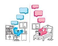 Konversation för textmeddelande Royaltyfri Illustrationer