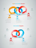 Konversation Infographics Arkivbild