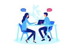Konversation mellan person två stock illustrationer