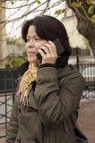 konversationbärbar datortelefon Royaltyfri Bild