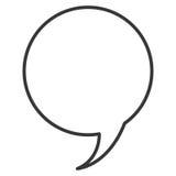 konversationbubbla royaltyfri illustrationer