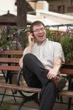 konversationtelefon Royaltyfri Foto