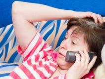 konversationtelefon Royaltyfria Foton