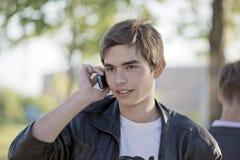 konversationtelefon Arkivfoton