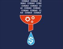 Konvertera idéer in i pengar Arkivbild