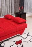konvertibel lyxig sofa Arkivbilder