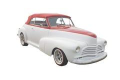 konvertibel röd retro white Arkivbild