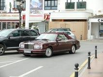 Konvertibla Rolls Royce In Puerto Banus Arkivbilder