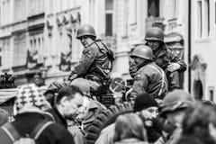 Konvoi der Freiheit an den Feiern der Freiheit stockfotografie