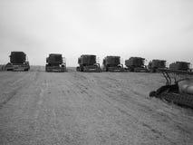 Konvoi der Traktoren stockfoto