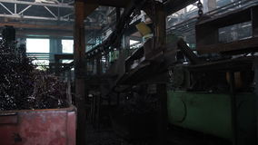 Konwejer w starej fabryce zbiory