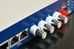 konwerteru włókna światłowodowego wideo Zdjęcia Stock
