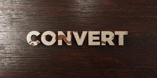 Konwertyta - grungy drewniany nagłówek na klonie - 3D odpłacający się królewskość bezpłatny akcyjny wizerunek ilustracja wektor