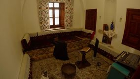 The room for singing prayers to Allah in the Sufi city of Konya. KONYA / TURKEY - 11.20.2016 central streets of the ancient Turkish city stock footage