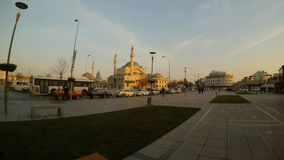 Selimiye Mosque, Mevlana Museum central streets of the ancient Turkish city. KONYA / TURKEY - 11.20.2016 central streets of the ancient Turkish city stock video