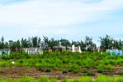 Konye Urgench Christian Cemetery ortodoxo ruso imagen de archivo libre de regalías