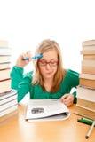 Konzentration auf Lektionen Stockfoto