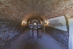 Konzentration Tabor TerezÃn Kolumbarium stockbild