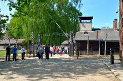 Konzentrationslager Auschwitz-Birkenau in Oswiecim, Polen Lizenzfreie Stockfotos