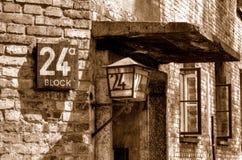 Konzentrationslager Auschwitz-Birkenau in Oswiecim, Polen Stockfotografie