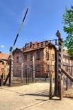 Konzentrationslager Auschwitz-Birkenau in Oswiecim, Polen Stockbild