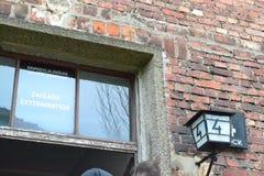 Konzentrationslager-Ausrottungs-Gebäude Auschwitz Birkenau II lizenzfreies stockbild