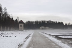 Konzentrationslager dachau Winter Lizenzfreie Stockfotografie