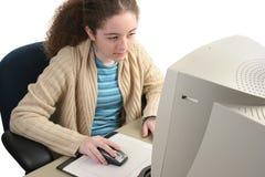 Konzentrieren auf Computer Stockbilder