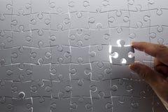 Konzentrieren Sie sich auf das unterere Kapitel des Puzzlespiels Lizenzfreies Stockfoto