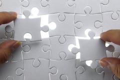 Konzentrieren Sie sich auf das unterere Kapitel des Puzzlespiels Lizenzfreies Stockbild