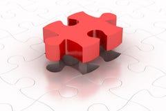 Konzentrieren Sie sich auf das unterere Kapitel des Puzzlespiels Lizenzfreie Stockbilder