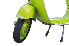 Konzentrieren Sie sich auf Ihren Motorrad-, Grünen und weißenhintergrund Lizenzfreie Stockbilder