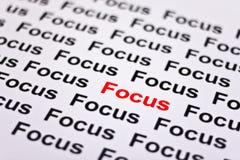Konzentriert auf Fokus Lizenzfreies Stockbild