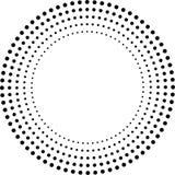 Konzentrische Kreise Punkte in der Kreisform stock abbildung