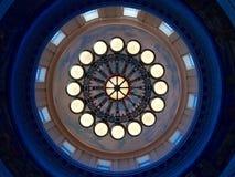 Konzentrisches Kreismuster von Lichtern lizenzfreies stockbild