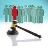 Konzept über Leute und das Gesetz Lizenzfreie Stockfotografie